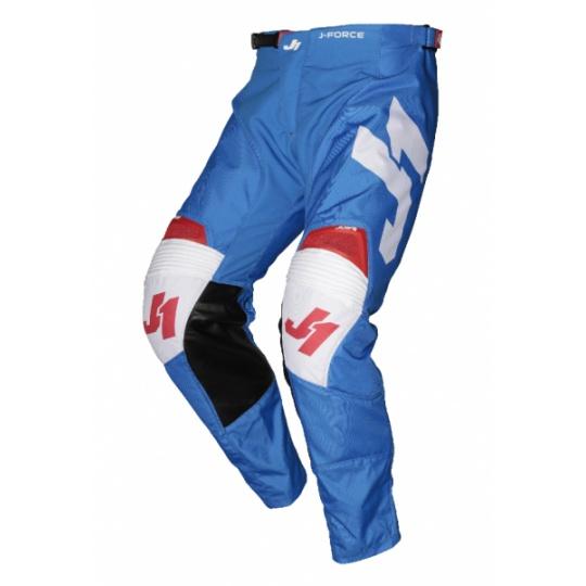 Moto kalhoty JUST1 J-FORCE TERRA modro/červeno/bílé