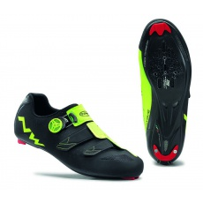 Pánské tretry Northwave Phantom Carbon Black/Yellow Fluo