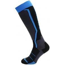 lyžařské ponožky BLIZZARD Allround ski socks, black/anthracite/blue 43-46