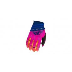 rukavice KINETIC K220 2020, FLY RACING (midnight/modrá/oranžová)