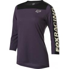 Dámský cyklo dres Fox Wmns Ranger Dr 3/4 Jrsy Dark Purple