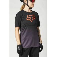 Dámský dres Fox W Flexair Ss Jersey Black/Purple