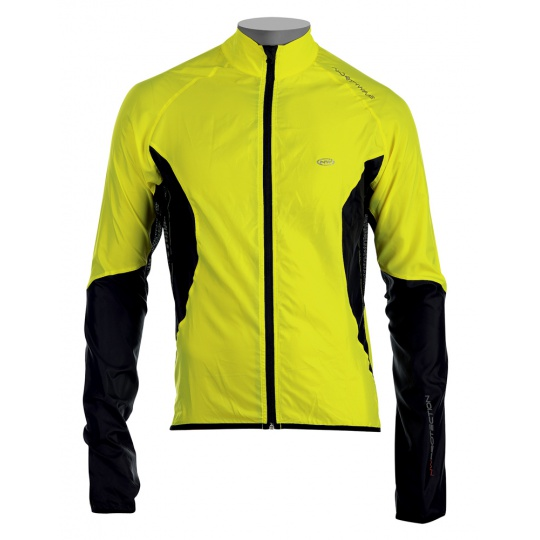 Cyklo bunda Northwave North Wind Jacket Flo Yellow/Black