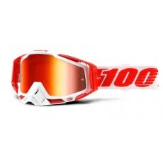 100% brýle motokrosové Racecraft Bilal - Mirror Red (čirá skla)