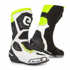 Moto boty ELEVEIT SP-01 bílo/žluté