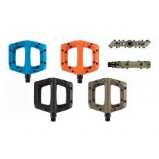 NS Bikes BISTRO pedály ZELENÉ - plastové s kovovými piny