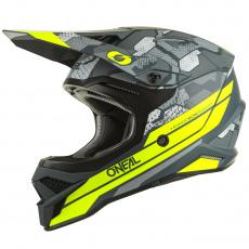 Přilba O´Neal 3Series CAMO šedá/žlutá