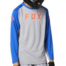 Dětský dres Fox Yth Defend Ls Jersey Steel Grey