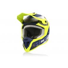 Acerbis motokros přilba LINEARžlutá/modrá
