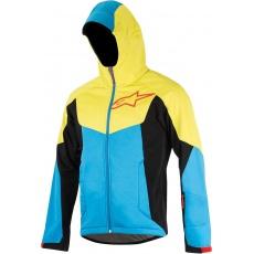 Alpinestars Milestone 2 cyklistická bunda bright blue acid yellow