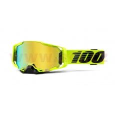 brýle ARMEGA Nuclear Citrus, 100% (zlaté chromované plexi s čepy pro slídy)