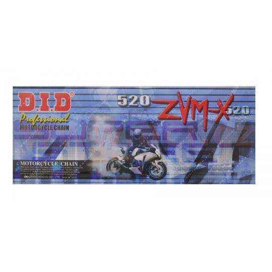 řetěz 520ZVMX, D.I.D. - Japonsko (barva černá, 104 článků vč. spojky ZJ)