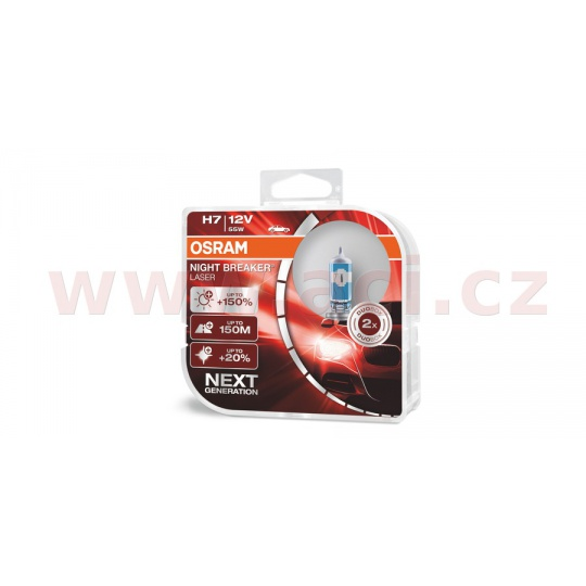 žárovky H7 12V 55W (patice PX26d) OSRAM NIGHT BREAKER® LASER (2 ks v boxu)