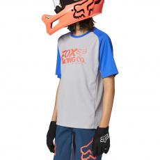 Dětský dres Fox Yth Defend Ss Jersey Steel Grey