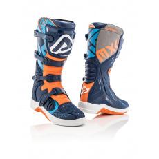 ACERBIS motokrosové boty X Teammodrá/oranž