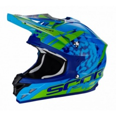 Moto přilba SCORPION VX-15 EVO AIR KISTUNE modro/zelená