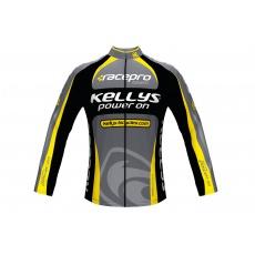 KELLYS Dres PRO Team dlouhý rukáv yellow - XS