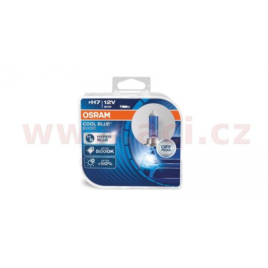 žárovky H7 12V 80W (patice PX26d) OSRAM COOL BLUE BOOST (bez homologace) (2 ks v boxu)
