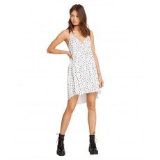 Dámské šaty Volcom Vol Dot Com Dress White