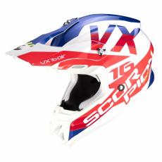 Moto přilba SCORPION VX-16 AIR X-TURN bílo/červená