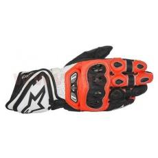 rukavice GP TECH, ALPINESTARS (červené fluo/bílé/černé)