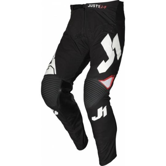 Dětské moto kalhoty JUST1 J-FLEX ARIA černo/bílé
