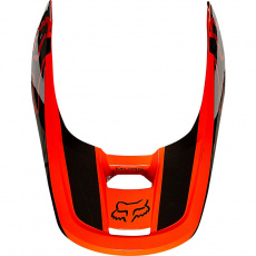 Náhradní kšilt Fox V1 Helmet Visor - Revn Fluo Orange