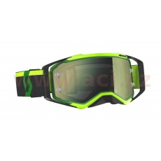brýle PROSPECT, SCOTT (zelené/černé, žluté chrom plexi s čepy pro slídy)