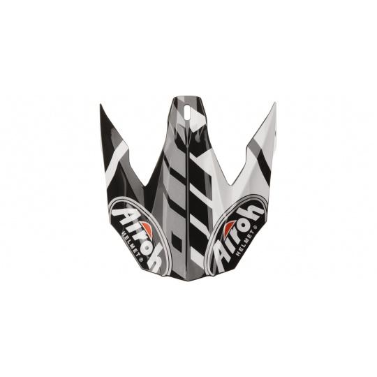 náhradní kšilt pro přilby TWIST GREAT, AIROH - Itálie (černá/bílá/stříbrná)