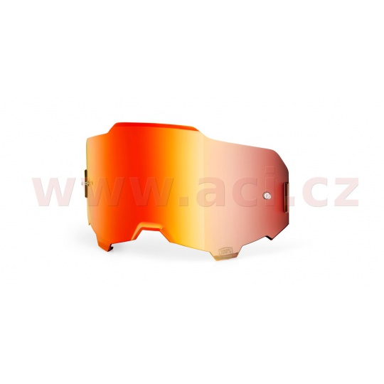 plexi ARMEGA, 100% (červené chrom, Anti-fog)