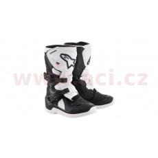 boty TECH 3S KIDS 2022, ALPINESTARS, dětské (černé/bílé)