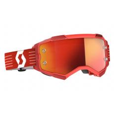 brýle FURY, SCOTT - USA (červená/ oranžová chrom plexi)