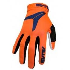 Dětské motokrosové rukavice ALAIS MX AKA neonově oranžové 2831-090