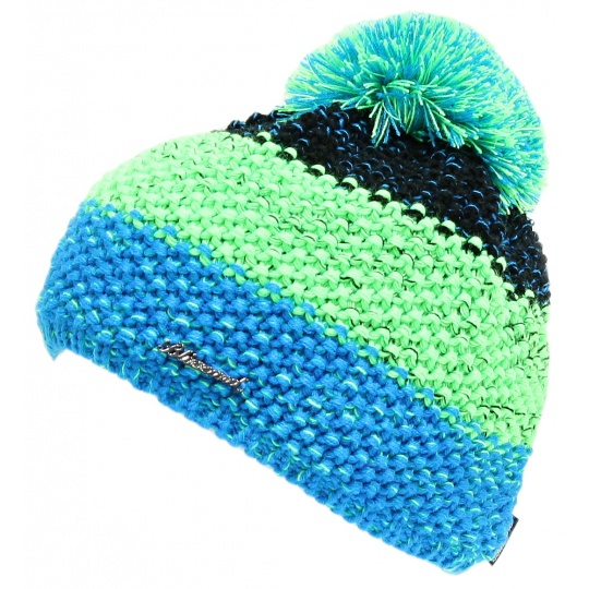 čepice BLIZZARD Tricolor, black/green/blue-melange
