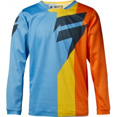 Dětský MX dres Shift Whit3 Tarmac Jersey Orange/Blue