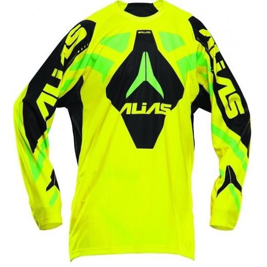 Motokrosový dres ALIAS MX A1 žluto/neonově zelený 2120-351