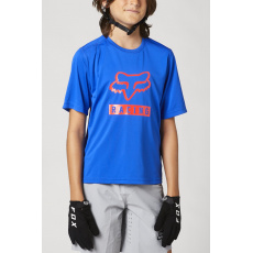 Dětský dres Fox Yth Ranger Ss Jersey Blue