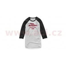 triko WINGED TEAM TEE 3/4 rukáv, ALPINESTARS (bílá/černá)