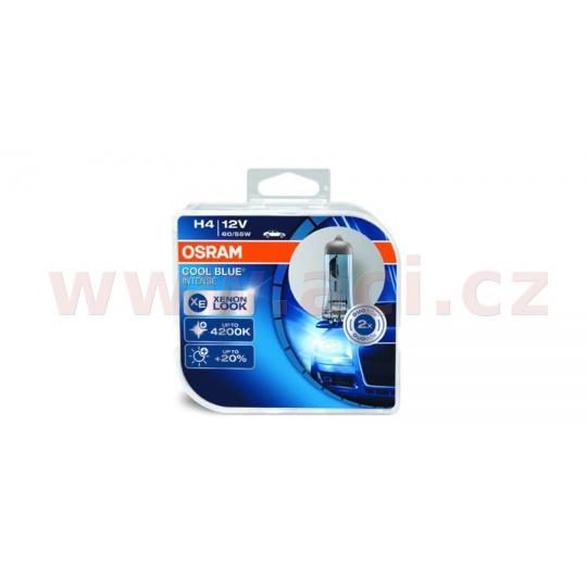 žárovky H4 60/55W (patice P43t) OSRAM COOL BLUE INTENSE (2 ks v boxu)
