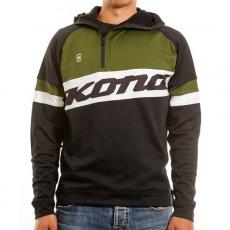 Pánská mikina kona mid layer shirt black/green