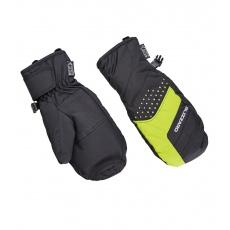 lyžařské rukavice BLIZZARD Mitten junior ski gloves, black/green