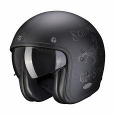 Moto přilba SCORPION BELFAST PIQUE matná černo/stříbrná