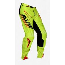 Motokrosové kalhoty ALIAS MX A1 ANALOGUE černé/chartreuse 2063-301
