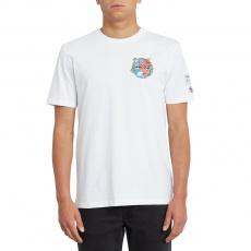 Pánské triko Volcom Freaks City Fa Ss White Flash