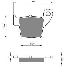 brzdové desky DP jako GF 176