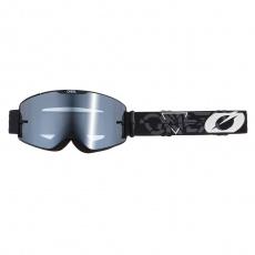 Brýle O´Neal B-20 STRAIN černá/bílá, silver mirror