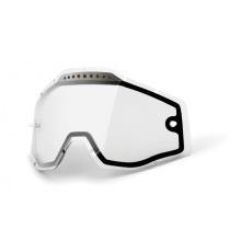 100% náhradní dvojité sklo Racecraft/Accuri/Strata, Anti-fog, čiré