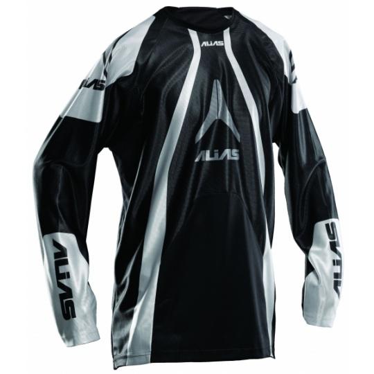 Motokrosový dres ALIAS MX A1 černý/stříbrný