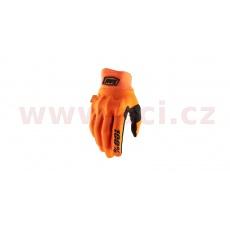 rukavice COGNITO, 100% (fluo oranžová/černá)
