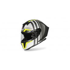 přilba GP 550S SKYLINE, AIROH (bílá/černá/fluo-matná)